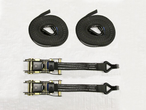 x2 Black 25MM 10M 1.5 Ton Ratchet Straps - 1500KG Metre Tie Down Lashing Claw J Hook